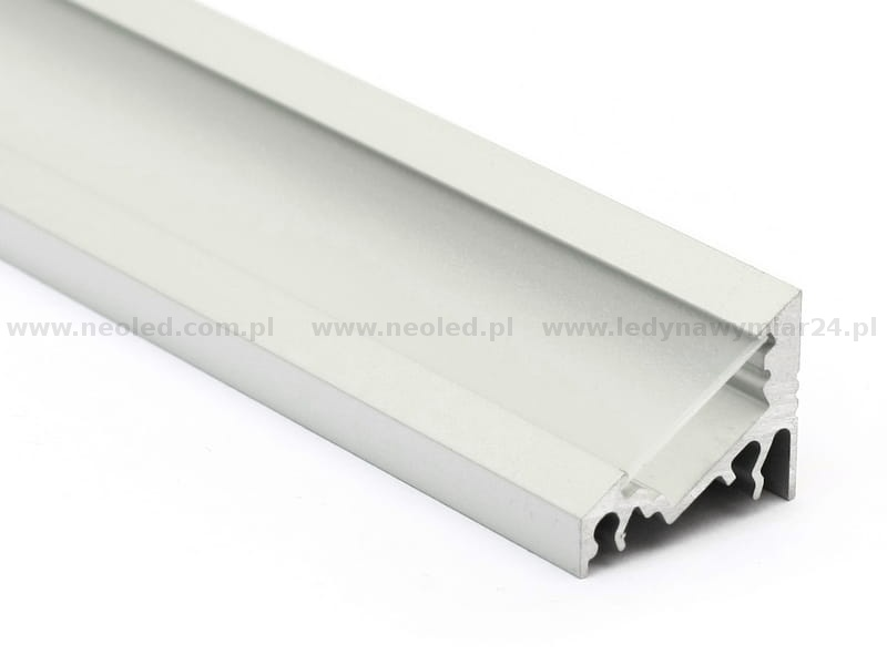 profil led corner 10 anodowany srebrny klosz szroniony t corner kl sgc sz neo led. Black Bedroom Furniture Sets. Home Design Ideas