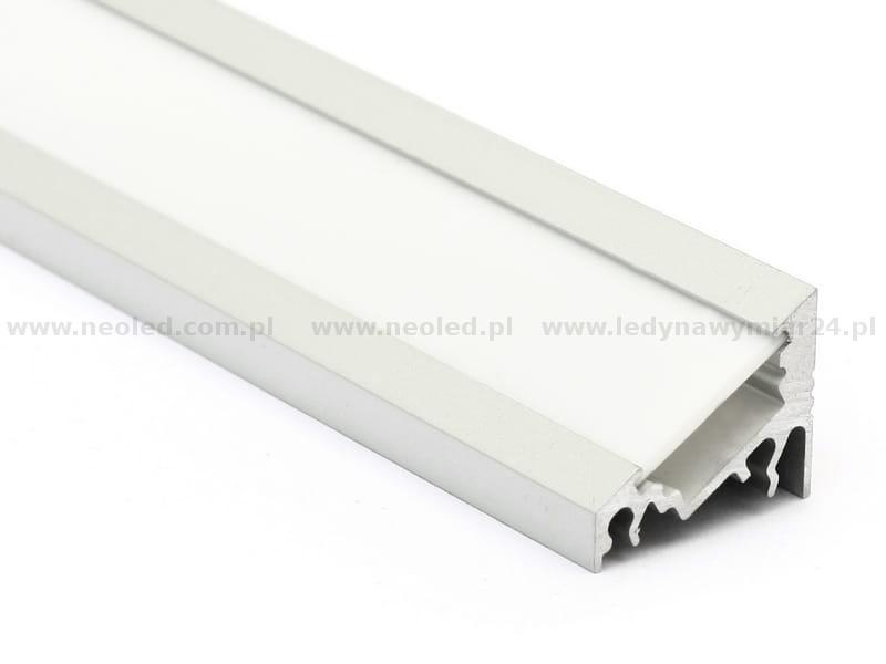 profil led corner 10 anodowany srebrny klosz mleczny t. Black Bedroom Furniture Sets. Home Design Ideas