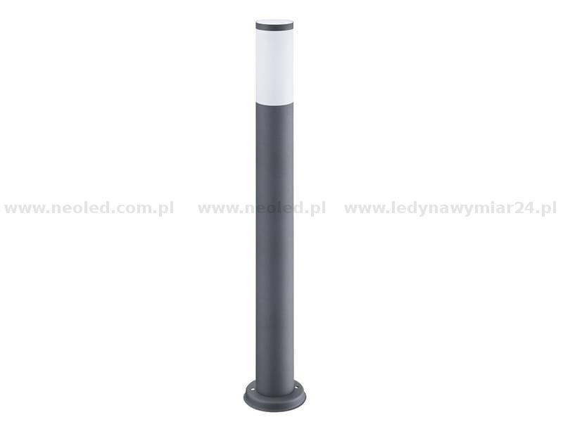 Unike OSLO lampa ogrodowa tuba szara INOX 100cm E27 POLUX | OSLO-300959 IM-91