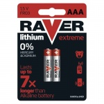 Baterie AAA Raver lithium EXTREME B7811 blister 2szt.