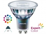 Żarówka LED Philips GU10 Master Led Expert Color 25° 3.9W 2700K 265lm ŚCIEMNIALNA