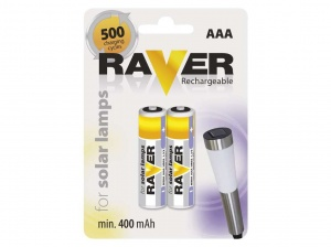 Baterie AAA Raver Rechargeable FOR SOLAR LAMPS B7414 blister 2szt.