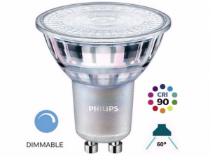 Żarówka LED Philips  GU10 60°MASTER LEDspot VALUE 4.9W 4000K 380lm ŚCIEMNIALNA