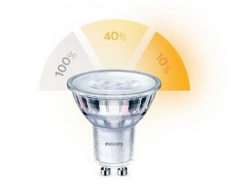 Żarówka LED Philips SceneSwitch LED 50W GU10 WW 36D 1.5/3.5/5W-50W 2700/2500/2200K