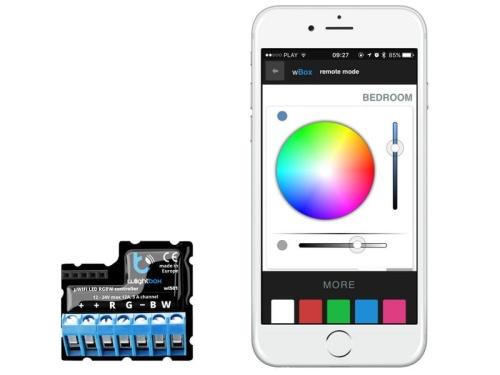 Wlightbox Blebox Sterownik Wifi Oświetlenia Led Mono Rgb I Rgbw 12 24v Dc